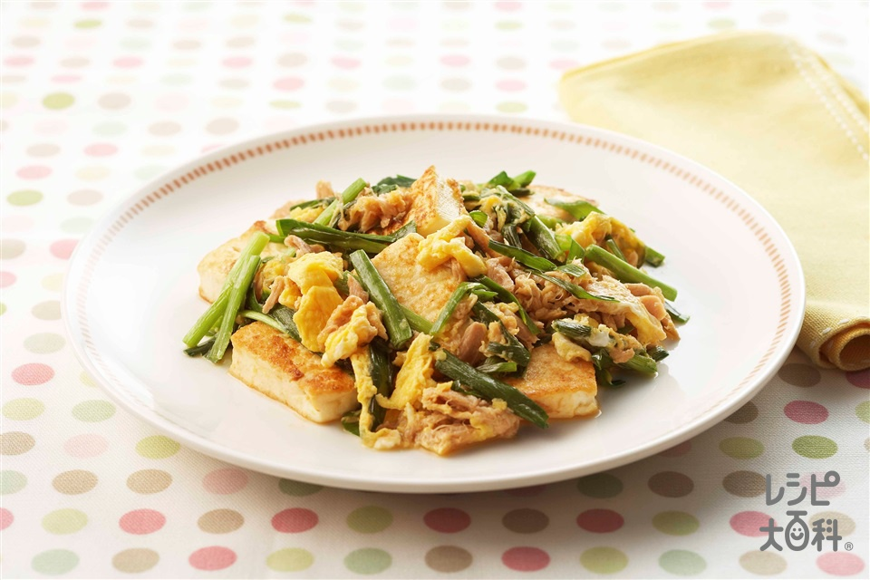 簡単チャンプルー(木綿豆腐+卵を使ったレシピ)
