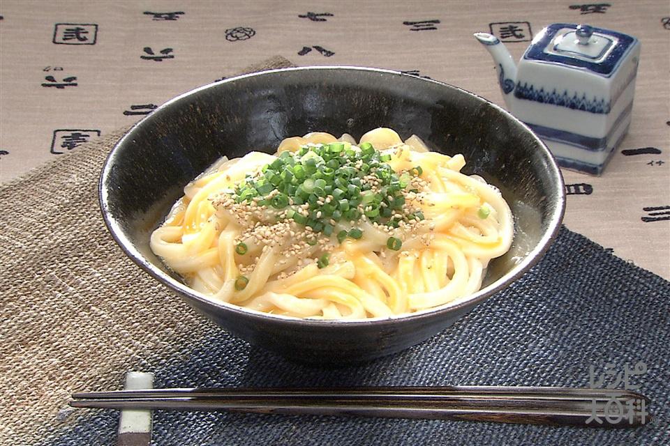 「ほんだし」釜揚げうどん(ゆでうどん+卵を使ったレシピ)