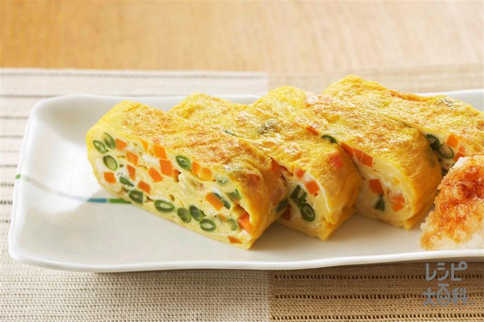 野菜たっぷり卵焼き(卵+にんじんを使ったレシピ)