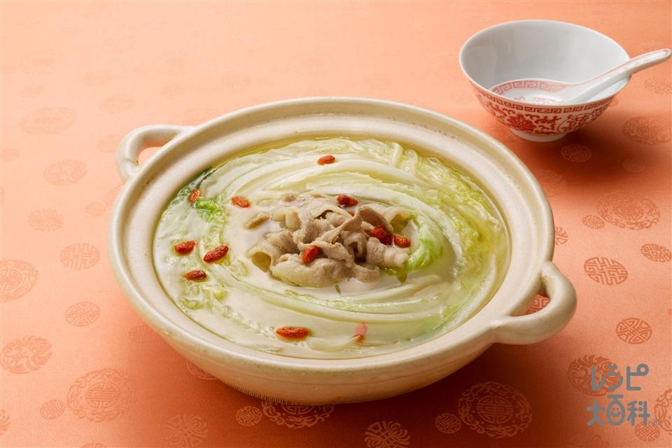 白菜鍋(白菜+豚バラ薄切り肉を使ったレシピ)