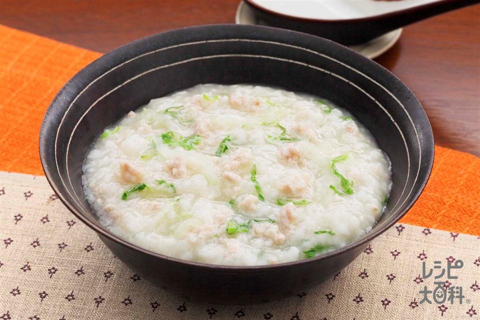 洋風鶏がゆ(白菜+鶏ひき肉を使ったレシピ)