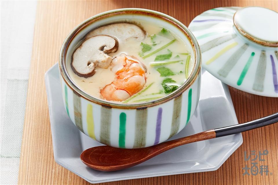 茶碗蒸し(卵+鶏むね肉を使ったレシピ)