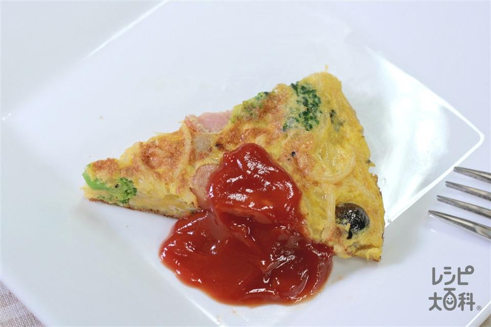パスタオムレツ(スパゲッティ+卵を使ったレシピ)