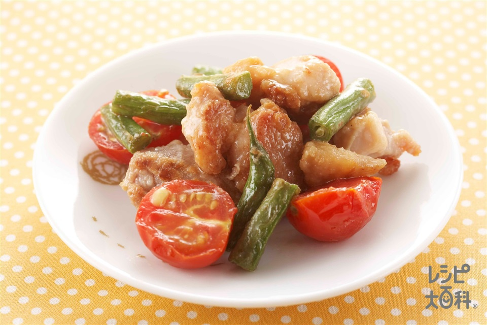 鶏と野菜の照り焼き(鶏もも肉+ミニトマトを使ったレシピ)