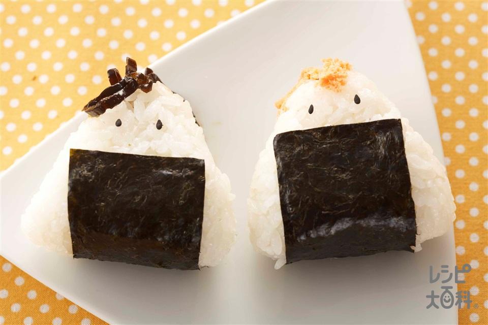 さけフレークと昆布のおにぎり(ご飯+さけフレークを使ったレシピ)
