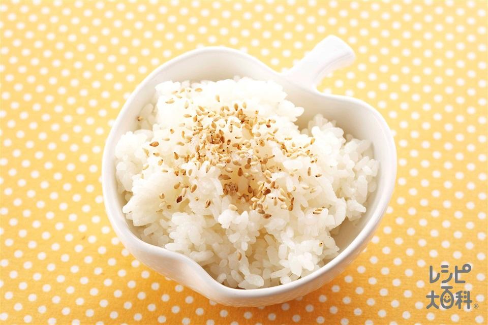 白ごまのふりかけごはん(ご飯+いり白ごまを使ったレシピ)