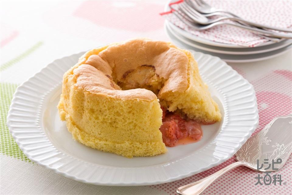 いちごの半熟カステラ(いちご+卵を使ったレシピ)