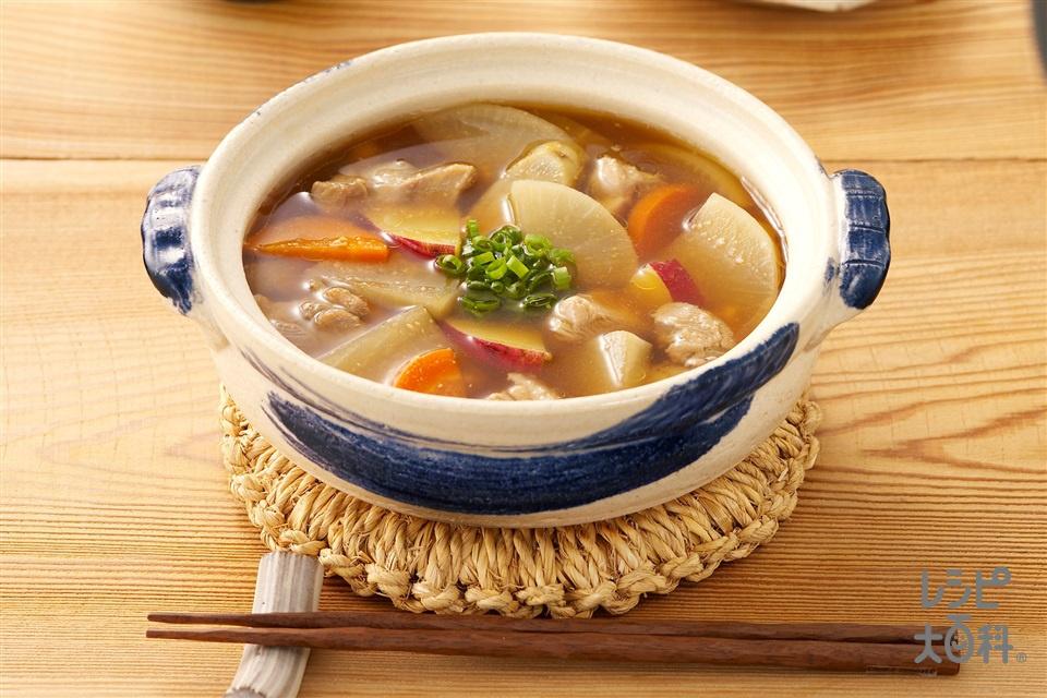 鶏大根の満腹さつま汁(鶏もも肉+大根を使ったレシピ)