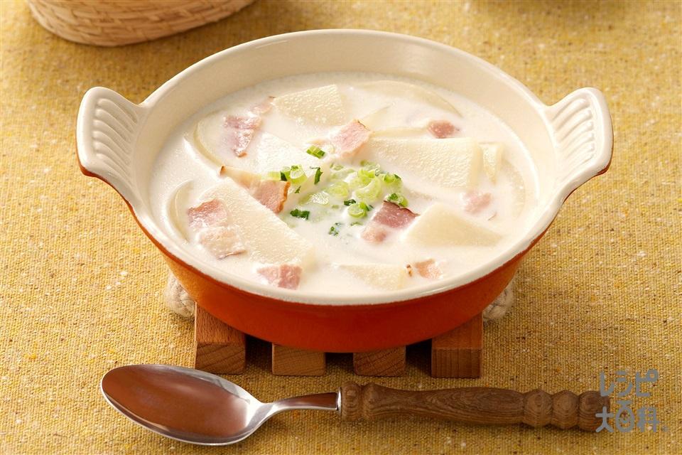 大根のクリーミィスープ(大根+玉ねぎを使ったレシピ)