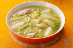 白菜と鶏とかぶのスープ煮