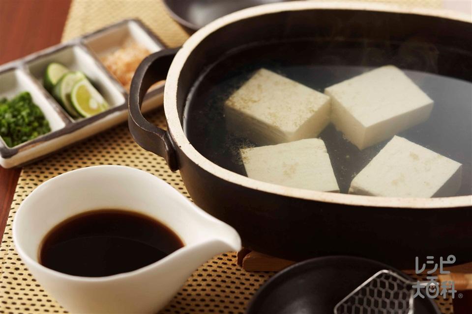 簡単湯豆腐(絹ごし豆腐を使ったレシピ)