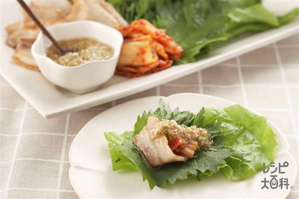 簡単サムギョプサル風(豚バラ肉+キムチを使ったレシピ)