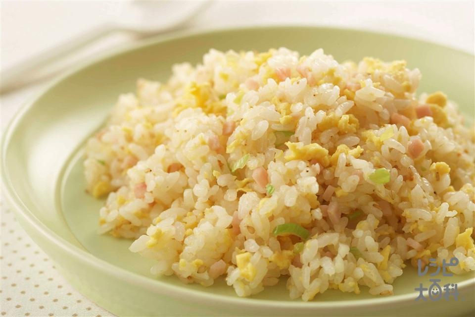 ねぎ塩チャーハン(温かいご飯+卵を使ったレシピ)