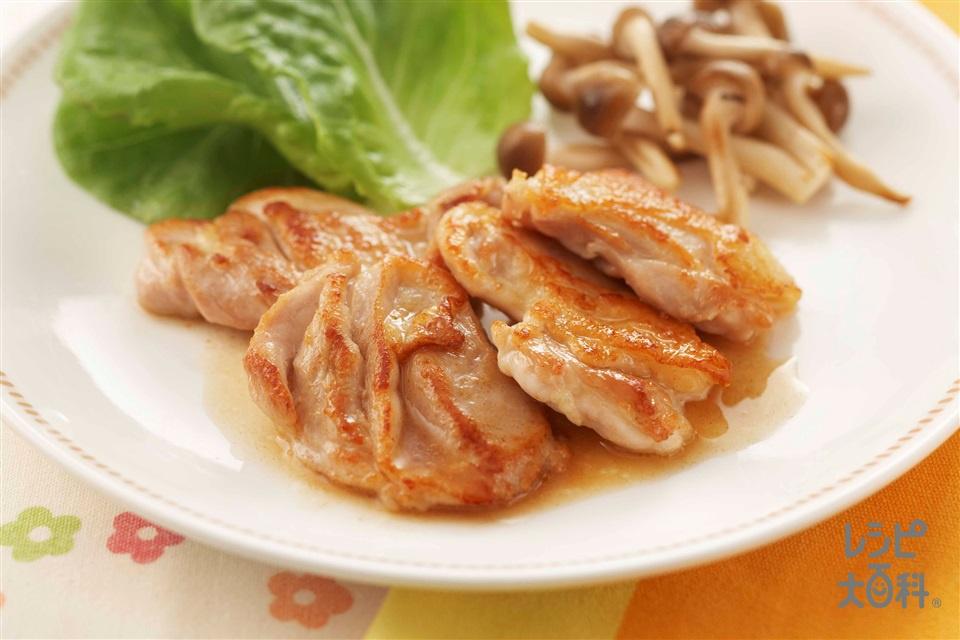 から揚げ用もも肉で!簡単チキンソテー(鶏もも肉+しめじを使ったレシピ)