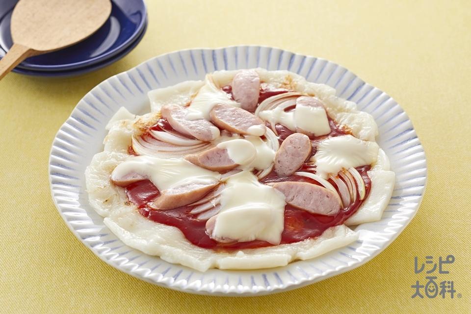 餅ピザ(角餅+ウインナーソーセージを使ったレシピ)