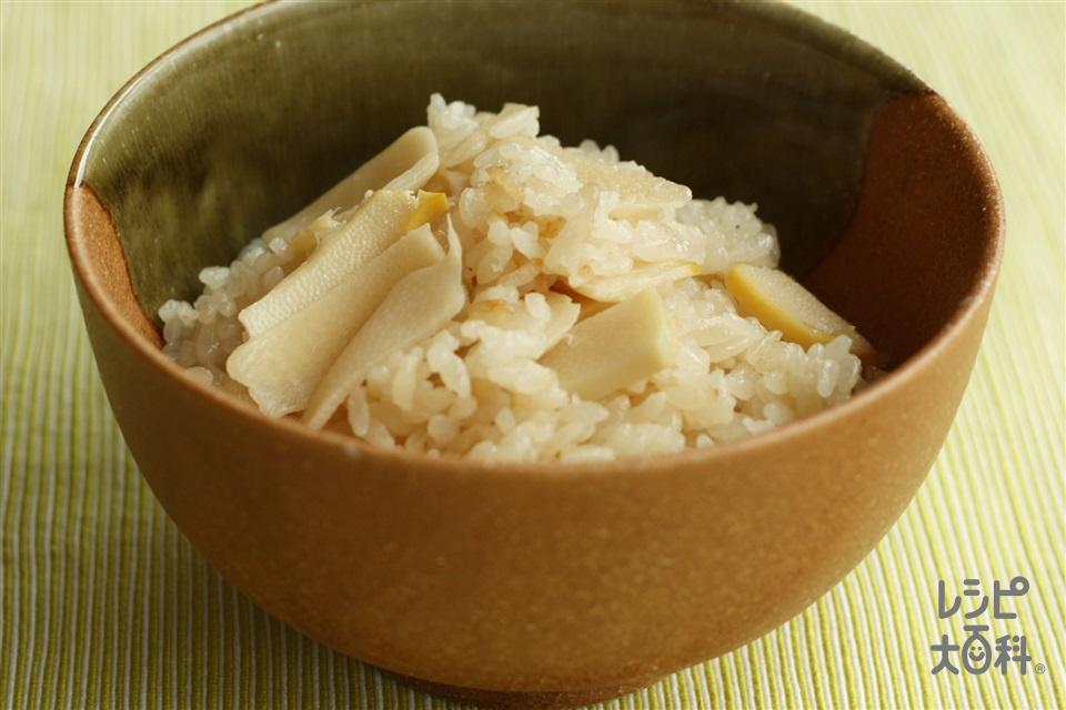 餅で簡単たけのこご飯 おこわ風(たけのこの水煮+米を使ったレシピ)