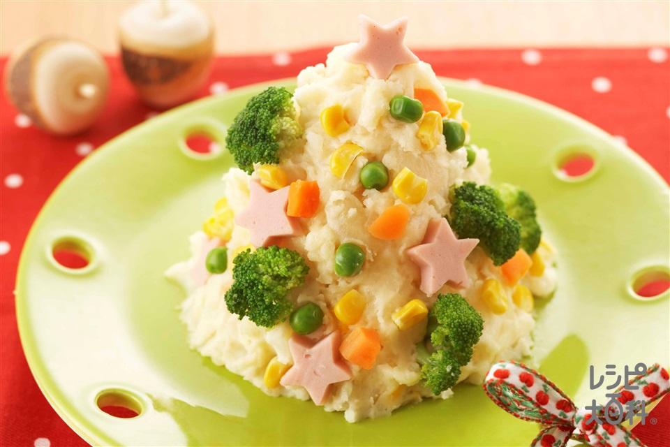 ポテトサラダツリー(じゃがいも+酢を使ったレシピ)