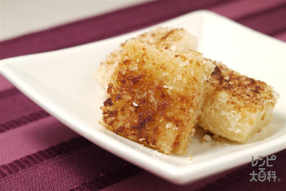 「ほんだし」風味の焼餅(切り餅+パン粉を使ったレシピ)