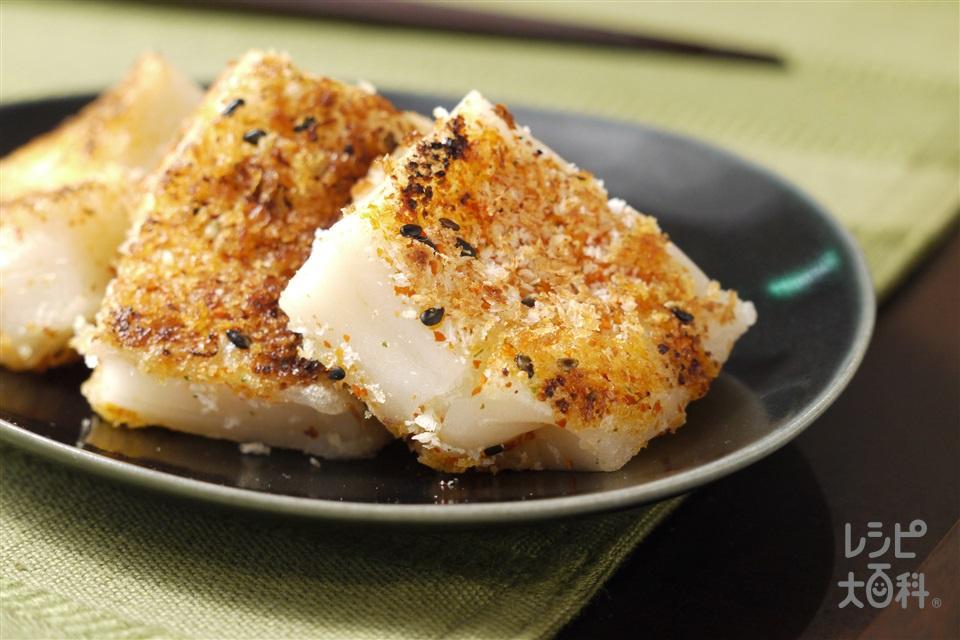 ピリから焼餅(切り餅+「丸鶏がらスープ」を使ったレシピ)