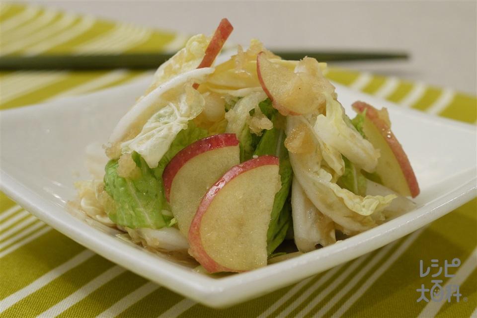白菜とりんごのおろしあえ(白菜+大根を使ったレシピ)