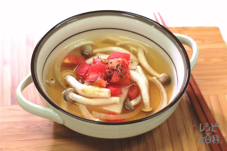 レンチン雑煮(洋風)(餅+トマトを使ったレシピ)