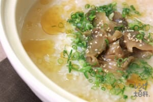鍋の〆 ザーサイとごまの中華風雑炊