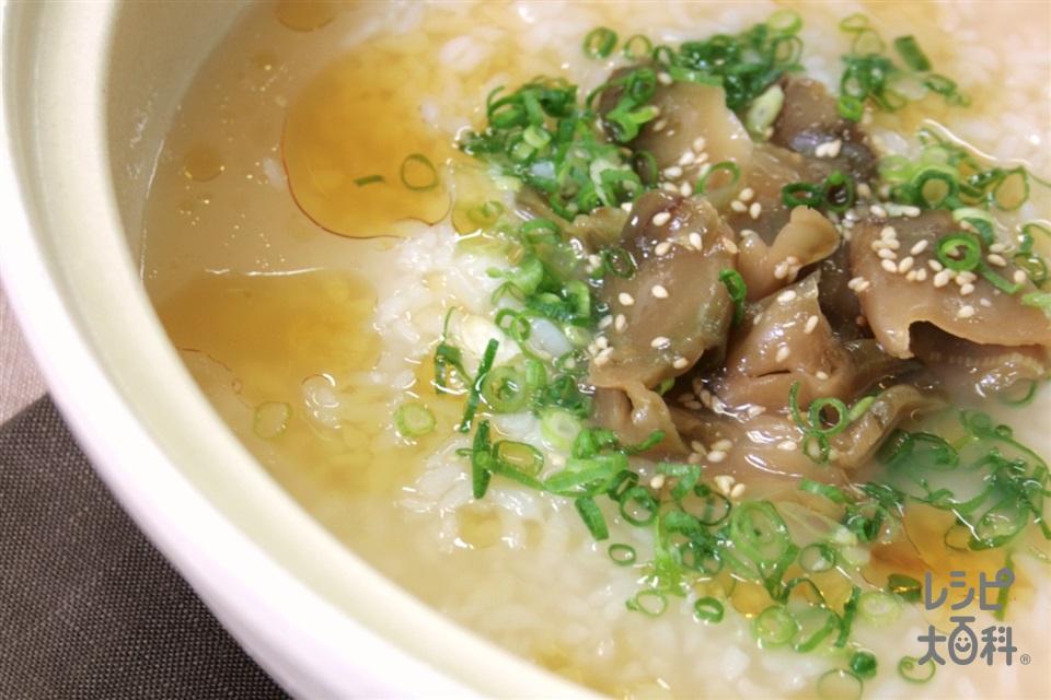 鍋の〆 ザーサイとごまの中華風雑炊(ご飯+ザーサイを使ったレシピ)