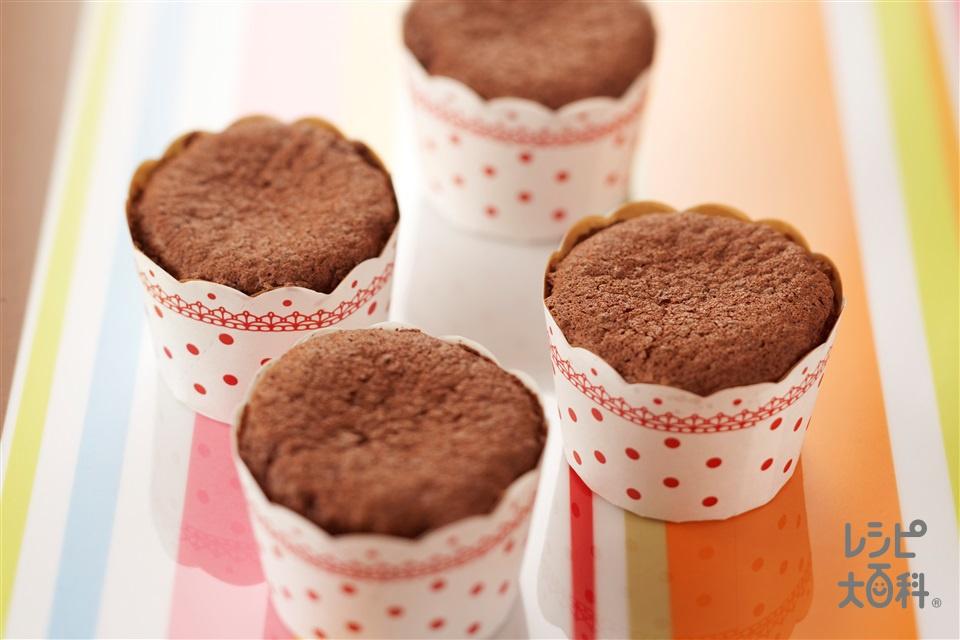 ミニガトーショコラ(卵+砂糖を使ったレシピ)