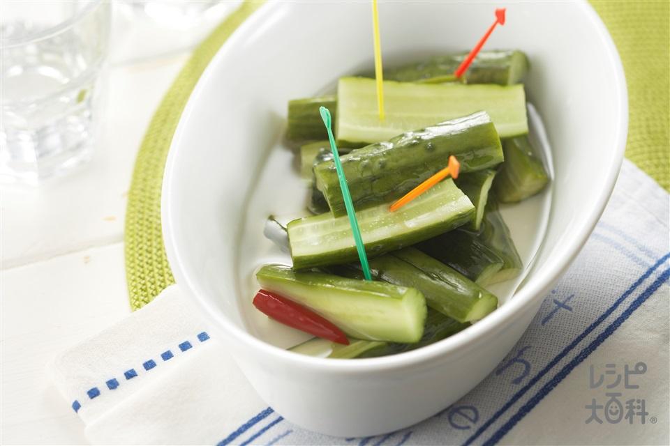 まるごときゅうりのピクルス(きゅうり+砂糖を使ったレシピ)