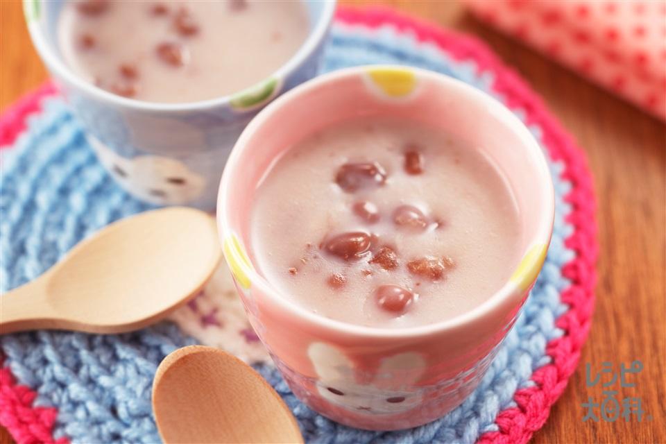 しるこミルク(ゆであずき缶+牛乳を使ったレシピ)