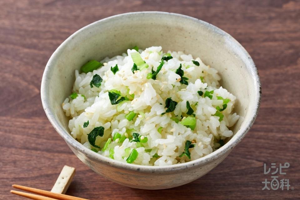 簡単菜めし(米+大根の葉を使ったレシピ)