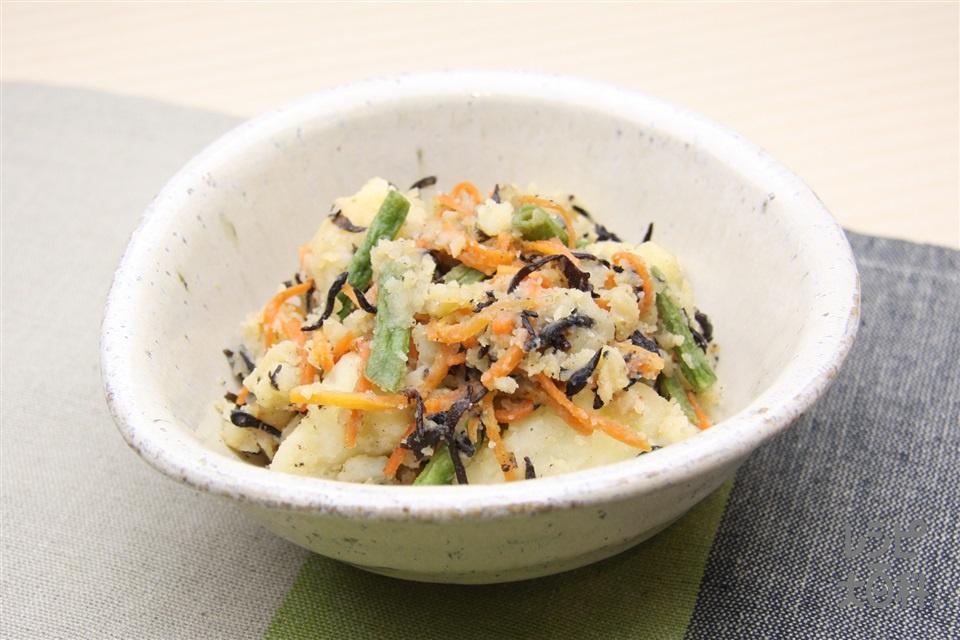和風ポテトサラダ(じゃがいも+さやいんげんを使ったレシピ)