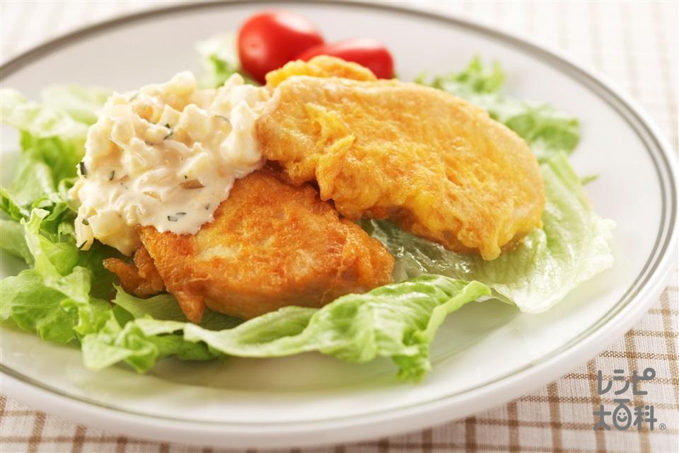 ゆで鶏でチキン南蛮風(しっとりゆで鶏+小麦粉を使ったレシピ)
