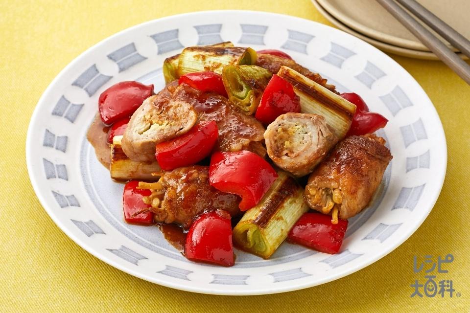 豚肉のたっぷりしょうが巻き(豚薄切り肉+しょうゆを使ったレシピ)
