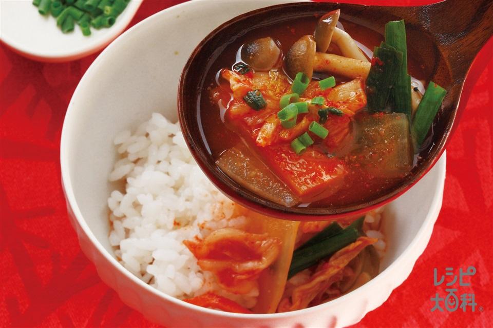 シメのクッパ ご飯にかけてクッパ風(ご飯+小ねぎの小口切りを使ったレシピ)