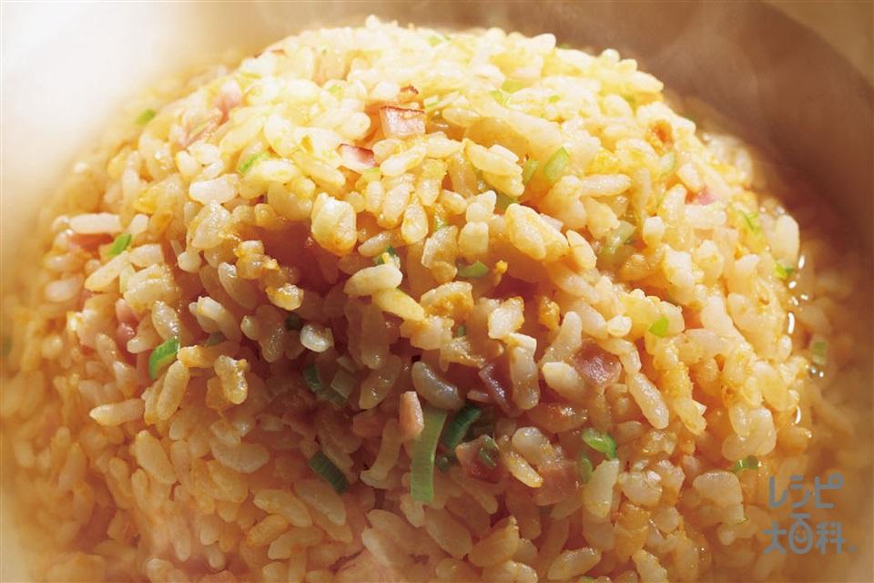 汁かけ炒飯(ご飯+溶き卵を使ったレシピ)