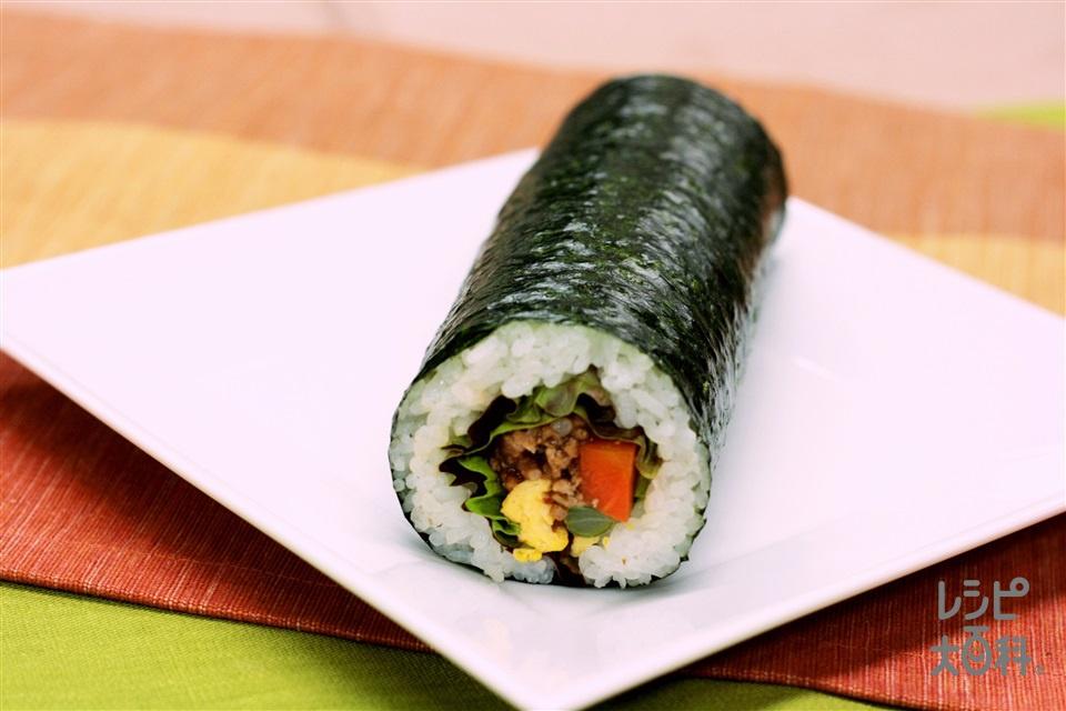 中華恵方巻き 麻婆肉みそ巻き(米+A酢を使ったレシピ)