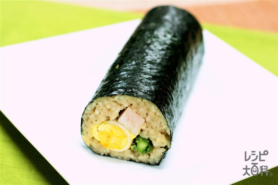 中華おこわの恵方巻き(もち米+干ししいたけを使ったレシピ)