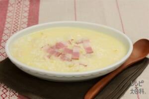 色々カップスープリゾット(ご飯+スライスチーズを使ったレシピ)