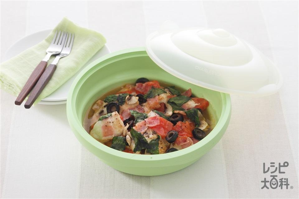 チキンのイタリア蒸し(鶏むね肉+トマトを使ったレシピ)