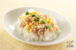3色のっけご飯(ご飯+鶏ひき肉を使ったレシピ)
