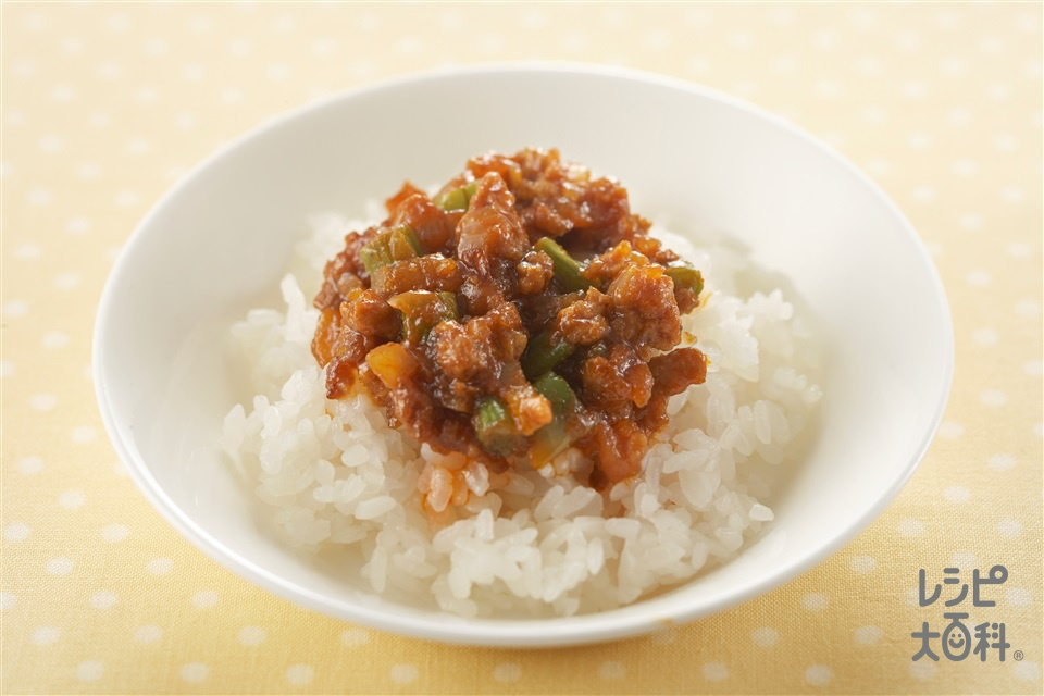 子ども向けのドライカレー(ご飯+合いびき肉を使ったレシピ)