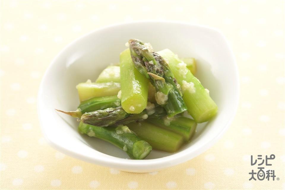 レンチンアスパラ(グリーンアスパラガス+粉チーズを使ったレシピ)