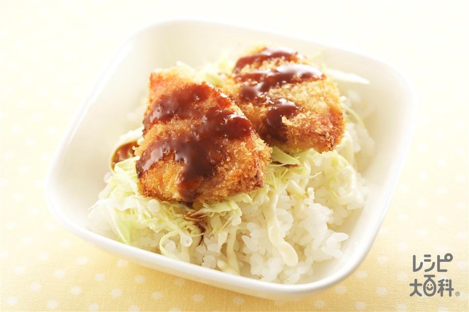 ハムカツ丼(ご飯+ロースハムを使ったレシピ)