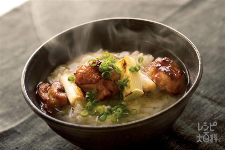 焼き鳥スープ丼