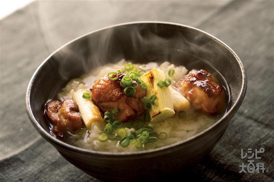 焼き鳥スープ丼(ご飯+焼き鳥を使ったレシピ)