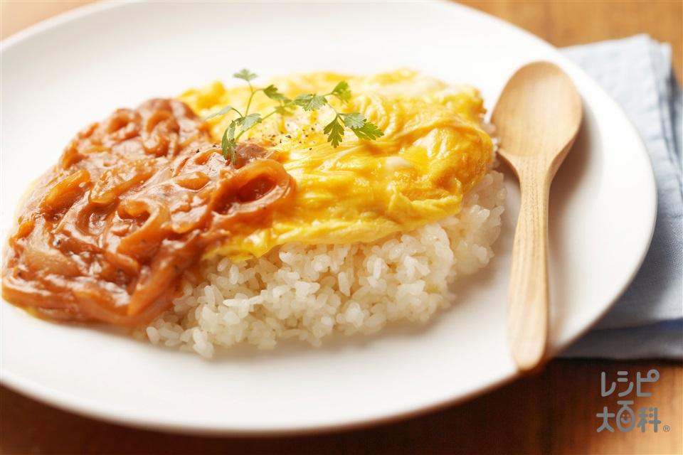 トロトロ卵のオムライス(卵+ご飯を使ったレシピ)