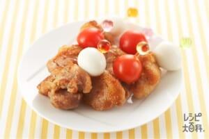 鶏肉の甘辛ピンチョス