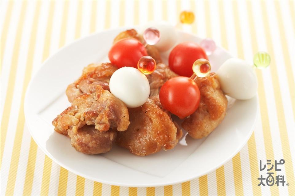 鶏肉の甘辛ピンチョス(鶏もも肉+ミニトマトを使ったレシピ)
