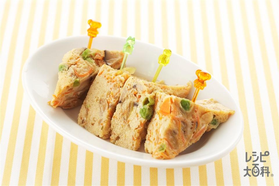 レンジで和風キッシュ(卵+玉ねぎを使ったレシピ)